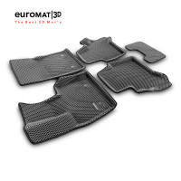 3D Коврики Euromat3D EVA В Салон Для MERCEDES W464 (G-Class) (2018-) № EM3DEVA-003502G Серые