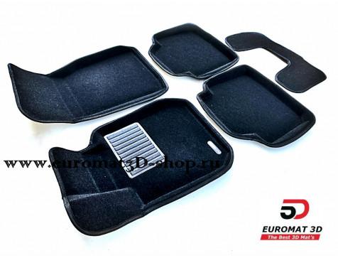 Текстильные 3D коврики Euromat3D Premium в салон для BMW 3 (F30) (2010-) № EMPR3D-001202