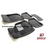 Текстильные 3D коврики Euromat3D Business в салон для MERCEDES W212 (E-Class) (2009-2015) № EMC3D-003505G Серые